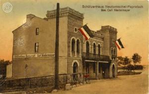 Das ehemalige Schützenhaus / Karte aus Sammlung Wojtek Szkudlarski