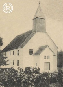 """Die 1. evgl. Kirche in Friedenhorst, erbaut 1797 und erweitert 1864 - aus """"Die evangelische Kirchen der Provinz Posen"""" von Dr. Kremmer, 4. Aufl. 1905"""