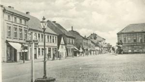 Der ehemalige Alte Markt mit den Vorderansichten der Gebäude Kaulfuss und Hecke - AK Sammlung W. S