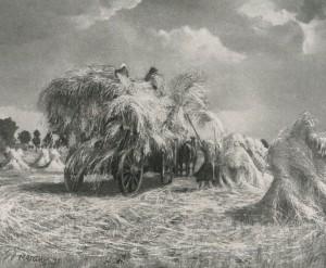 Gemälde Gerhard Drewanz - Die Ernte wird geborgen