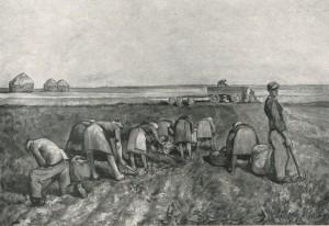 Gemälde Paul Bürck - Kartoffelleserinnen