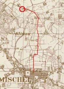 Die beschriebene Route ca. 2200 m