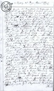 Blatt aus den Aufzeichnungen des Pastor Willmann - Quelle: 893/Archiwum  Państwowe  w Poznaniu,  5346/Evangelisch-lutherisches Kirchensystem.  vol. II