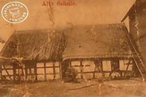 Alte Schule Dabrowo vor 1901 - Postkartenausschnitt (4)