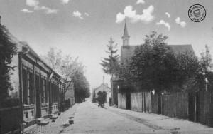 Der östliche Teil der Hinterstraße - Bild: Maennel Archiv