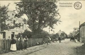 Blick in die Hinterstraße - Postkarte aus der Sammlung des Wojtek Szkudlarski