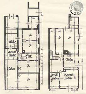 Breitestraße 192 links und Fleischerstraße 124 Abb. 56 Graetz - Aufn. Baurat Rambeau -vergl. auch Taf. XXVII-