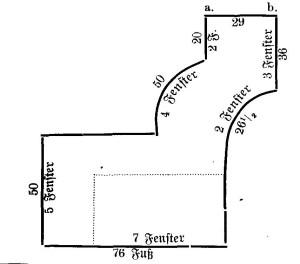 Handzeichnung zur Schlossruine - dem Original Artikel entnommen