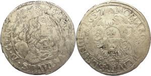 Polen-Elbing 18 Gröscher 1657 - Bildquelle: http://www.muenzauktion.com/knopik/item.php5?id=100927004