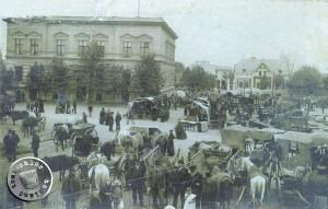 Markttag in Neutomischel ca. 1900 - Quelle: Privatbesitz Fam. Goldmann