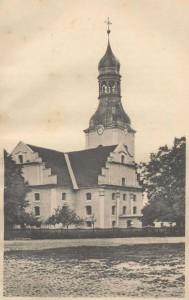 Die ehemalige evangelische Kirche - heute Herz Jesu Kirche der katholischen Gemeinde zu Nowy Tomysl - Quelle: Kurzgefasste Chronik