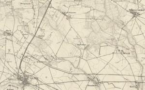 Ausschnitt aus Messtischblatt 1911 - Quelle: http://mapy.amzp.pl/tk25.cgi?23,48,60,80