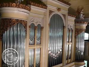 Bild der heutigen Orgel der Herz-Jesu-Kirche