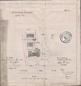 Planungszeichnung des Krankenhausgeländes - Quelle: Staatsarchiv Poznan (1)