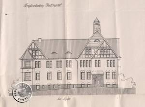 Die Planungszeichnung 1912 -Südansicht- erbaut 1913 - Quelle: Staatsarchiv Poznan (1)