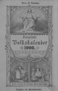 Volkskalender 1900 - Quelle: Großpolnische digit. Bibliothek Poznan