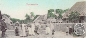 Dorfstrasse in Lomnitz - AK Sammlung A. Kraft
