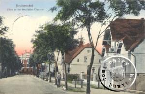 Blick auf die ehemalige Dampfmühle Schmidt mit der Badeanstalt - AK Sammlung Wojtek Szkudlarski