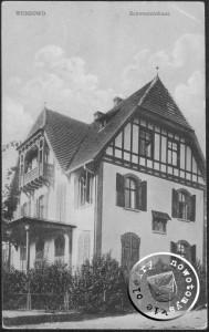 Das Schwesternhaus in Wonsowo - Ansichtskarte aus der Sammlung des A. Kraft
