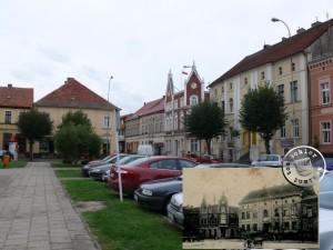 Buk - die Gebäude des Rathauses und der Apotheke (2)