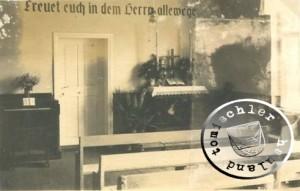Gemeindesaal im Pfarrhaus der Luth. Gemeinde, dem ehemaligen Haus der Familie Stellmacher  / Bild: Privatbesitz D. Maennel