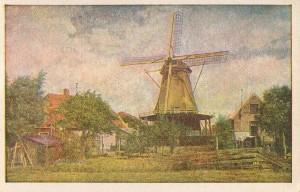 """Alte Ansichtskarte mit einem """"Galerie-Holländer"""", so könnte es auch in Neutomischel ausgesehen haben - Quelle: http://www.wbc.poznan.pl - Moje wiatraki – wirtualne muzeum, Creator:  Szkopek, Wiesław"""