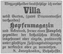 Angebot des Anwesens Josephsohn in der Bahnhofstraße in Neutomischel
