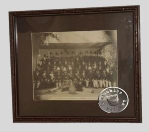 Aufnahme der Mitglieder der Schützengilde aus dem Jahr 1913 - Ausgestellt im Muzeum Ziemi Grodziskiej