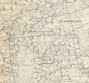 """Kartenauschnitt mit dem """"Ziegenkrug"""" - Quelle: http://mapy.amzp.pl/tk25.cgi?23,48,60,80"""