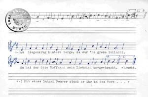 Die Melodie, aus der Erinnerung Hr. Ernst Müller - 1988