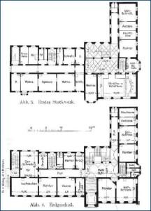 Erstes Stockwerk und Erdgeschoß - Abb. 3 und 4