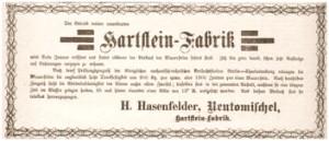 Ogłoszenie prasowe przedsiębiorcy budowlanego Hasenfeldera, Npwy Tomyśl - Źródło: Kreisblatt 03.01.1899
