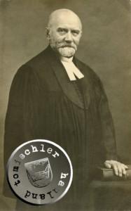Pastor Seidel - Pastor der evgl. luth. Gemeinde von 1885-1917 in Neutomischel - Bild: D. Maennel Archiv