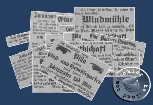 Zeitungsanzeigen des Jahres 1900 - Quelle: Kreisblatt Neutomischel