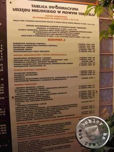 tablica informacyjna Urzedu Miejskiego, foto: PM