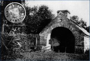 """""""Nowoczesny"""" piec chlebowy w Glinnie- Foto: 1940 Gerhard Jaenicke"""