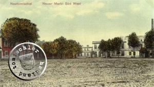 Die Süd-West Ansicht des ehemaligen Neuen Marktes - Ansichtskarte: Maennel Archiv