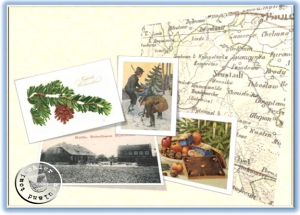 Das neue Kath. Schulhaus in Bolewitz - Postkartenausschnitt Sammlung Wojtek Szkudlarski