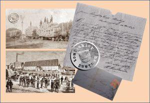 links oben: Hopfenverladung in Neu Tomysl links unten: Hopfenmarkt in Nürnberg rechts: Angebot des H. Friedlaender aus dem Jahr 1870