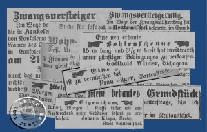Immobilienanzeigen aus dem Jahr 1902
