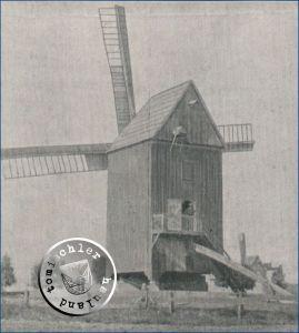 """Neutomischeler """"Windbock"""" - 1787 erbaut, 1911 abgerissen - Bild aus dem Original Artikel"""