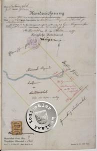 Handzeichnung, gefertigt bzgl. des Grundstückankaufes - Quelle: Staatsarchiv Posen - Stadtakten 4385-0016
