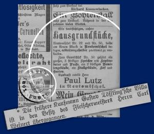 """Anzeige über den """"erbteilungshalber"""" anstehenden Verkauf - Kreisblatt Neutomischel Dez 1903 / Großpolnische digitale Bibliothek Poznan (http://www.wbc.poznan.pl/dlibra)"""