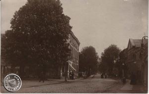 Piłsudskiego, Widok od strony placu Chopina.