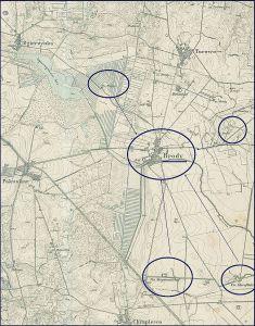 Kartenausschnitt mit Brody und den dazugehörigen Vorwerken - http://mapy.amzp.pl/tk25.cgi?23,48,60,80