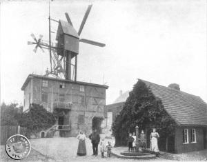 Piłsudskiego 39. Kunstmühle Gottlieb Pflaum ze swoją rodziną. Zdjęcie wykonano przed 1872 r.