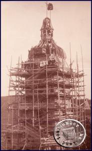 Richtfest des neuen Kirchturmes im Jahr 1923 - Bild aus der Sammlung des A. Kraft