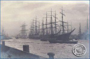 """""""Hafenromantik"""" früherer Zeit, die nur zu oft die Schicksale der Auswanderer verbarg - Bild: Maennel Archiv"""