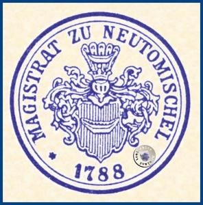 Amtsstempel des Magistrat zu Neutomischel