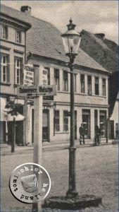 Gaslaterne am ehemaligen Alten Markt / Postkartenausschnitt